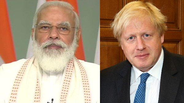 PM Modi speaks to Boris Johnson on COVID-19 vaccines, trade and security -  Oneindia News