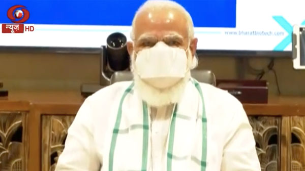 PM Modi at Hyderabads Bharat Biotech facility to review vaccine development