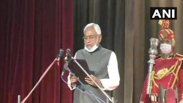 Nitish Kumar takes oath as Bihar CM for 7th time; Tarkishore Prasad, Renu Devi his deputies