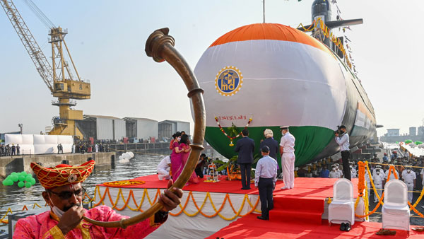 Indian Navy launches its fifth Scorpene class submarine Vagir