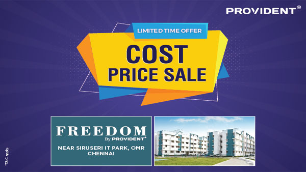 Provident Freedom in Chennai: Now buy luxurious homes at a convenient price!