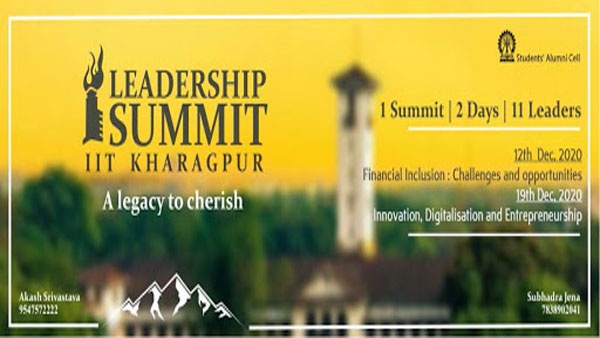 IIT Kharagpur presents the Online edition of Leadership Summit 2020!
