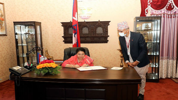 High-level Chinese delegation calls on Nepal President amidst political crisis