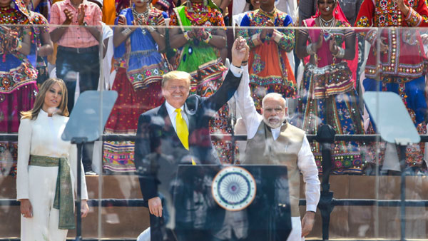 When PM Modi, US President Trump addressed Namaste Trump event at Motera stadium