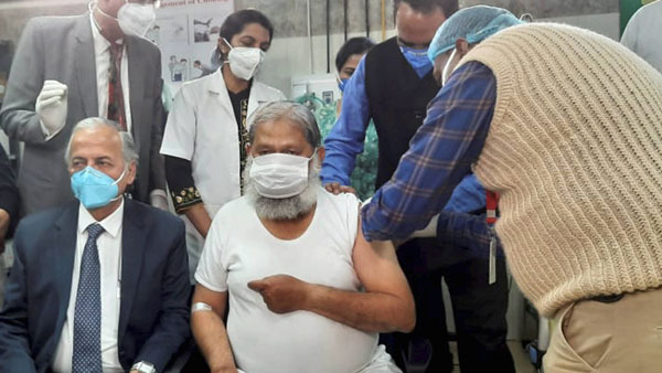 Haryana minister who took trial dose of COVID-19 vaccine tests positive
