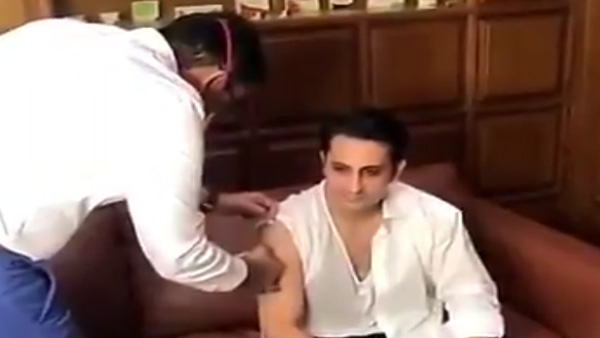 Watch: India's vaccine maker administered the jab