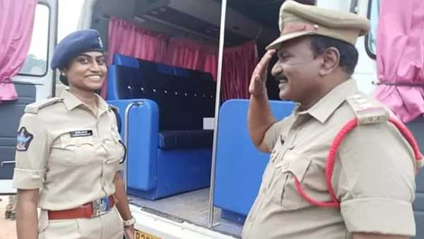 Heartwarming photo of Andhra cop saluting daughter goes viral