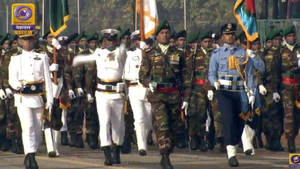 Marching Contingent of Bangladesh Army on Rajpath