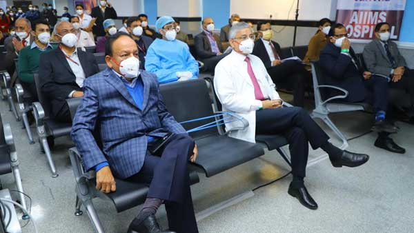 Dr.Harsh Vardhan administered COVID-19 vaccine