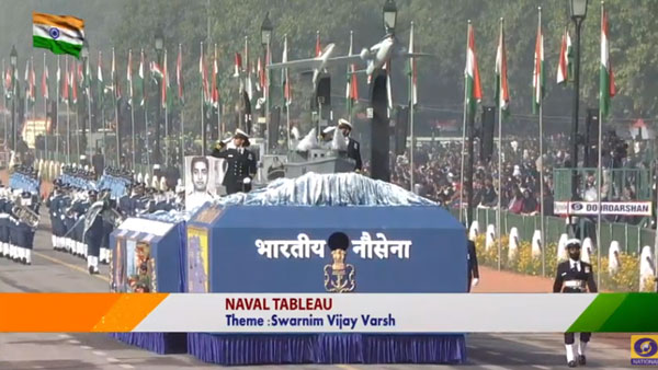 Indian Navy's tableau showcases principal combatant in 1971 war