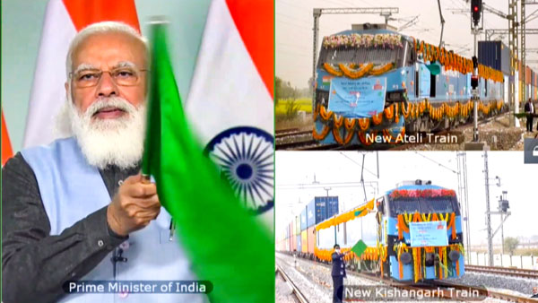 PM Modi dedicates New Rewari, New Madar section of Western Dedicated Freight Corridor to the Nation