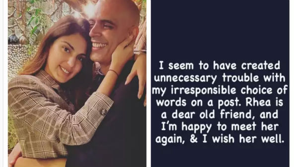 Roadies fame Rajiv Lakshman deletes pic with Rhea Chakraborty, issues apology for 'unnecessary trouble'