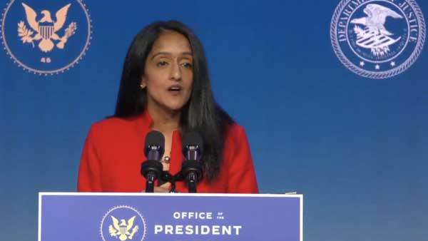 Biden calls Vanita Gupta proud daughter of immigrants from India