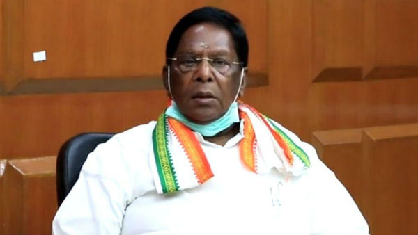 Not allowing elected govt to function: Puducherry CM continues protest outside LG Kiran Bedis office