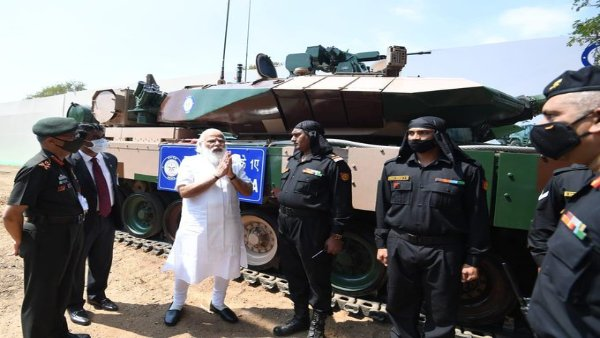 PM Modi hands over 'Made-In-India' Arjun battle tank to Army in Chennai