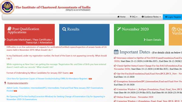 ICAI CA Foundation Intermediate result: How to check