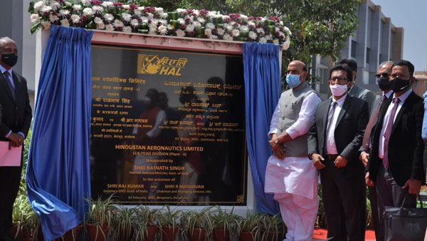 Rajnath Singh inaugurates HAL's second LCA production line