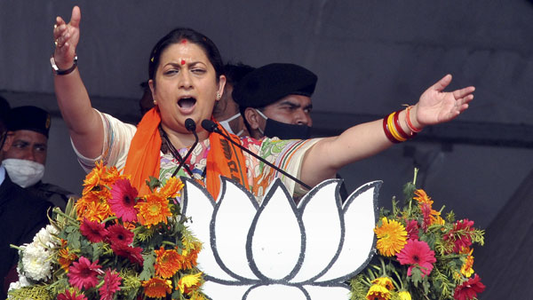 PM Modi is working, Didi is trying to take credit for central schemes: Smriti Irani