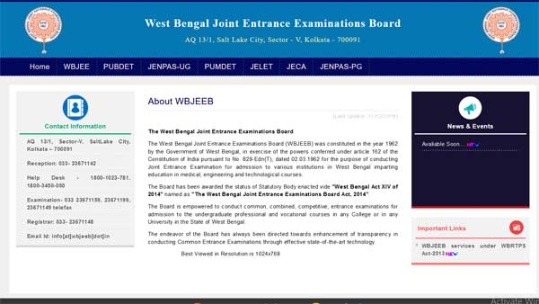 WBJEE 2021 registration begins: Check details here