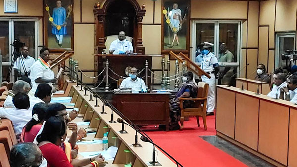 BJP says will not stake claim to form government in Puducherry