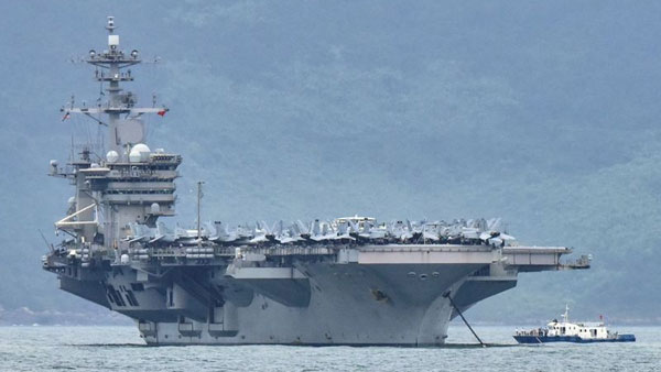 US warships in South China Sea send a strong signal to Beijing