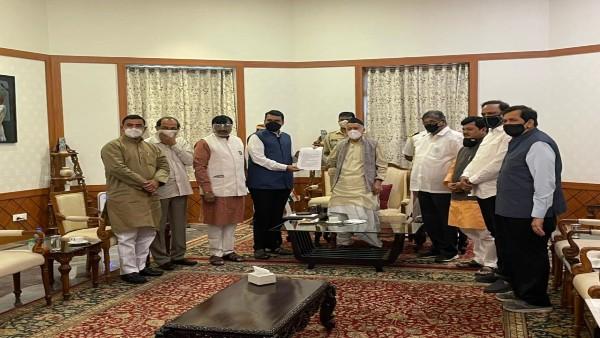 BJP delegation meets Maharashtra Governor Kosiyari, submits memorandum