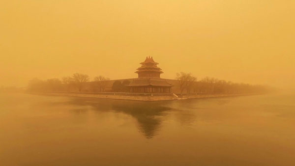 Watch: Severe sandstorm hit Beijing, causes severe air pollution, traffic disruptions