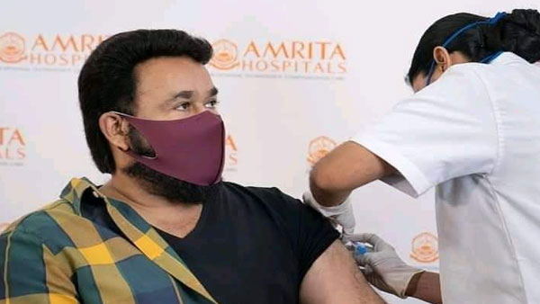 South superstar Mohanlal receives COVID-19 vaccine; Thanks government, medical staff