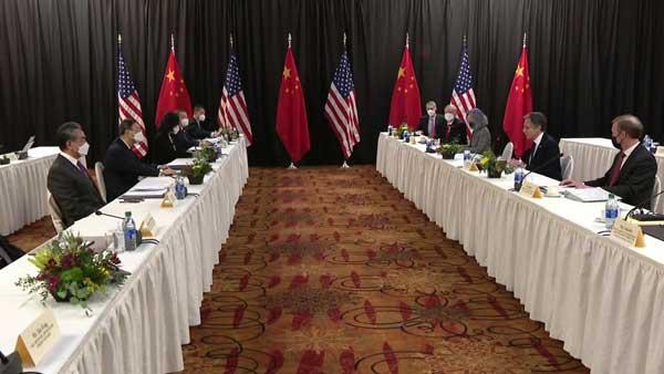 US, China trade barbs at first meet under Biden administration
