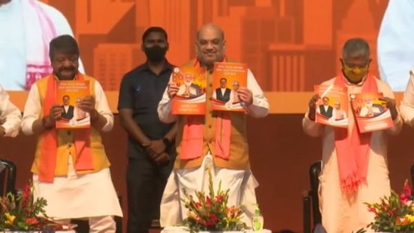 With a vision of 'Sonar Bangla', Amit Shah releases BJP manifesto for West Bengal polls