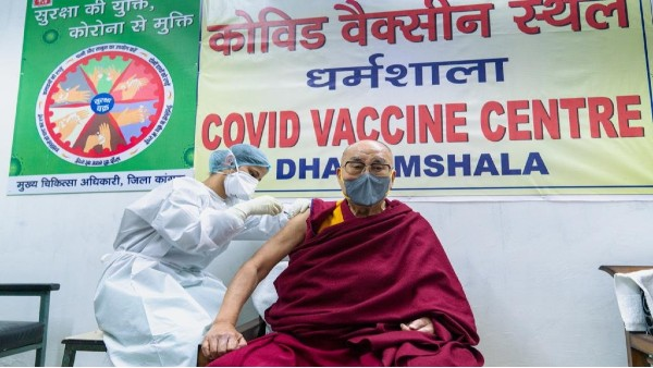 Dalai Lama receives first dose of anti-coronavirus vaccine