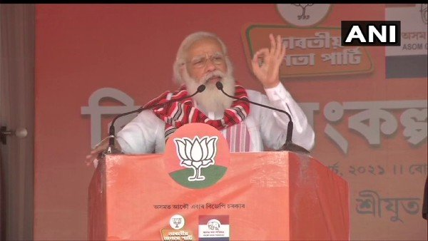 Congress is used to doing politics over tea, says PM Modi in Assam's Bokakhat