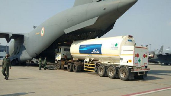 IAF joins hands to combat COVID-19; Oxygen containers, cylinders, essential medicine airlifted