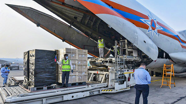 More medical supplies from international community drop in as India battles COVID-19