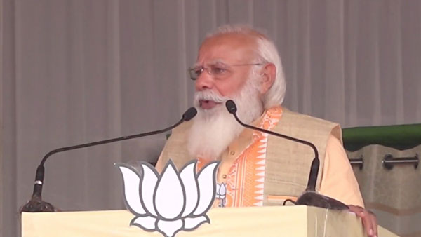 People in Assam have shown Congress-led alliance red card: PM Modi in Kokrajhar