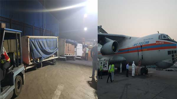 Coronavirus second wave: Russia sends aid to India; Oxygen concentrators, ventilators, medicines arrive