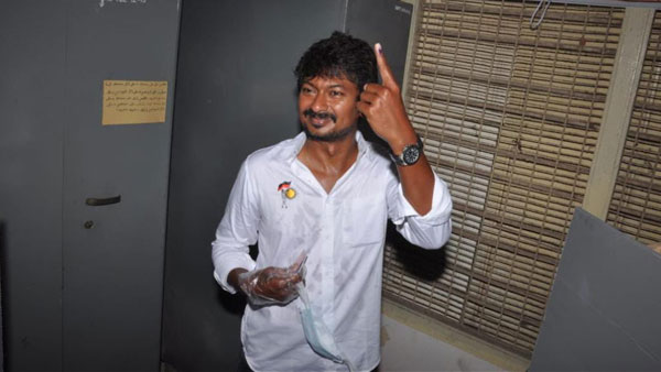 AIADMK slams DMK as Udhaynidhi Stalin wears shirt with party symbol while casting his vote