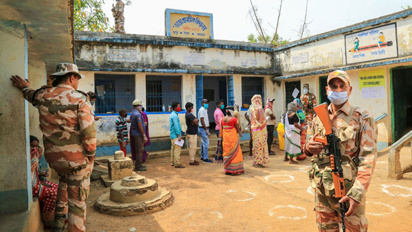 Polling underway in Bengal with strict adherence to COVID-19 norms
