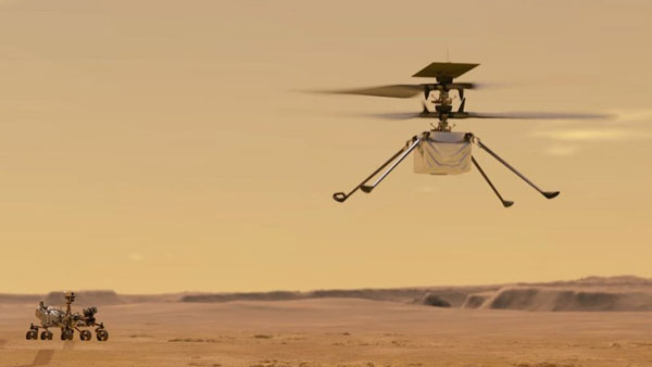 NASA's Mars helicopter takes flight,1st for another planet