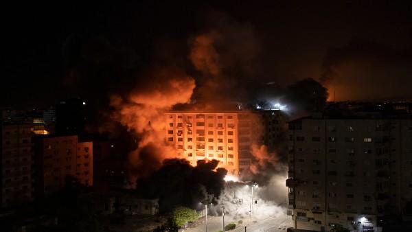 Gaza 13-storey residential tower collapses in Israeli airstrike