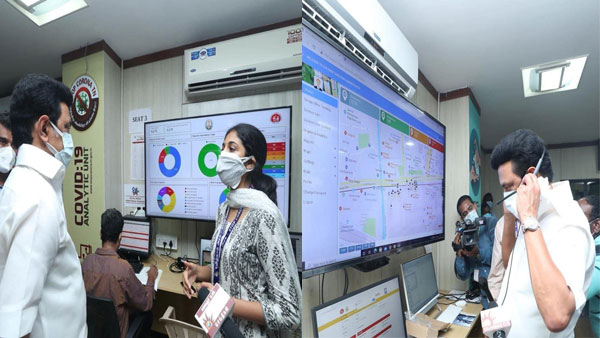 Tamil Nadu CM MK Stalin inspects COVID-19 unified command centre in Chennai