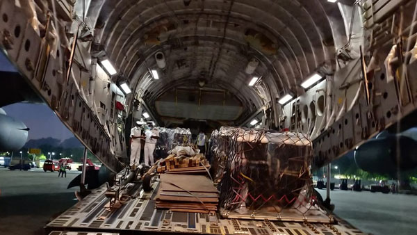 IAF brings in oxygen cylinders from UK