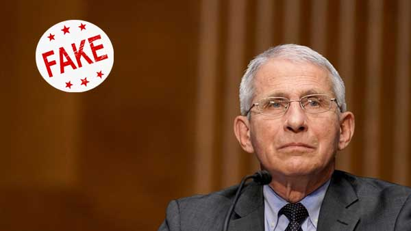 Fake: Dr. Fauci has not been sacked and US has not yet admitted COVID-19 is man made