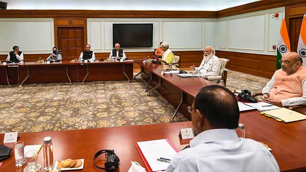 In Pics: PM Modi meets J&K Leaders to chalk out future course of action