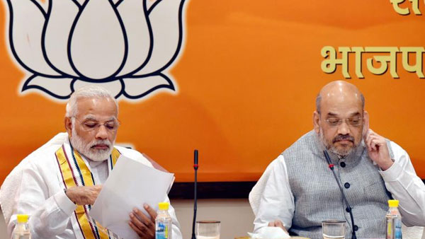 Amid Cabinet expansion buzz, PM Modi holds meeting with Shah, Santhosh