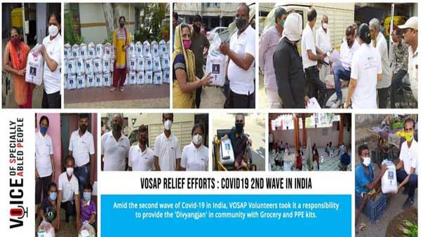 In COVID-19 times, specially abled people supported by Indian-American NGO