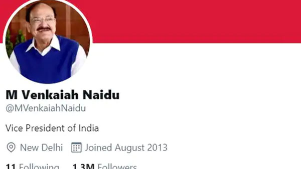 Explained: Why did Twitter remove verified blue tick on personal account of Venkaiah Naidu
