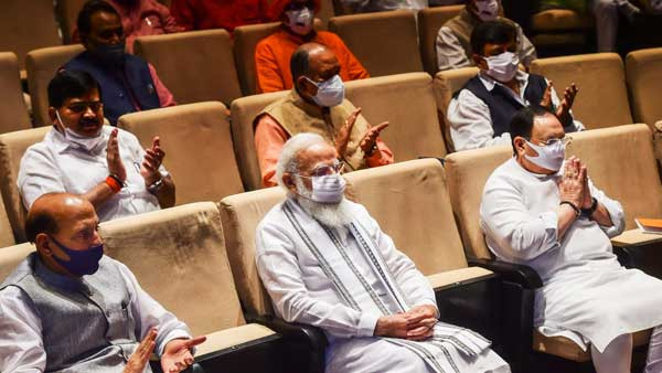 Congress not letting Parliament run, expose them: PM Modi tells BJP MPs