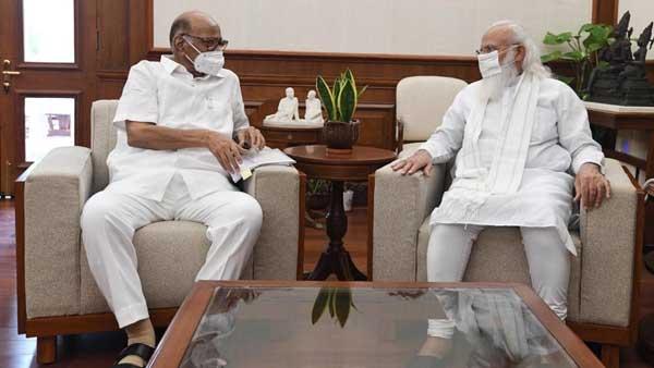 Ahead of Monsoon Session, NCP chief Sharad Pawar meets PM Modi in Delhi
