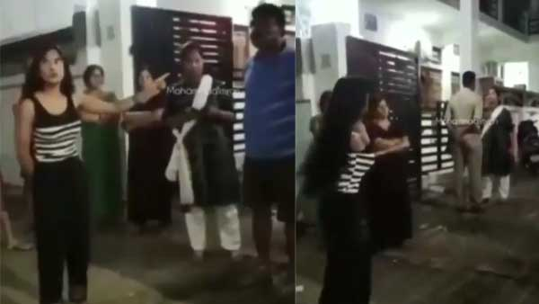 Old Video of Lucknow traffic girl goes viral, seen fighting with neighbours over black wall paint